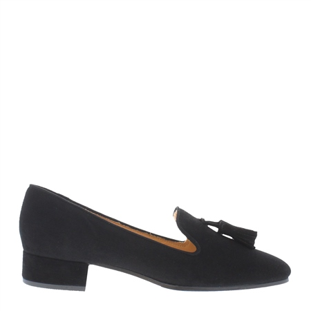 Fiadh Black Suede Loafers  - Click to view a larger image