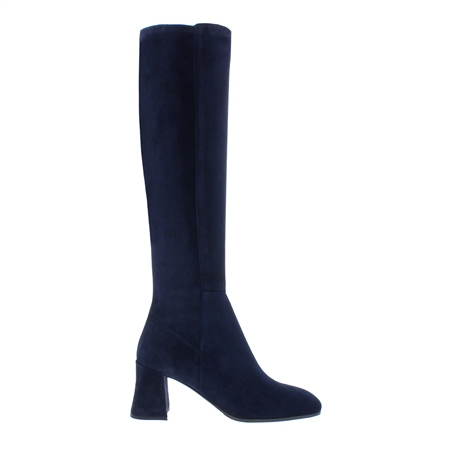 Jill Navy Suede Boots  - Click to view a larger image