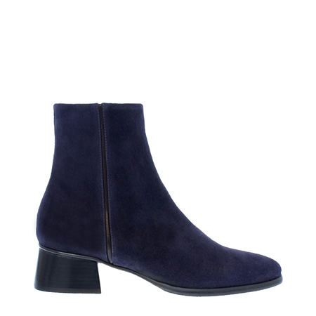 Megan Navy Suede Ankle Boots  - Click to view a larger image