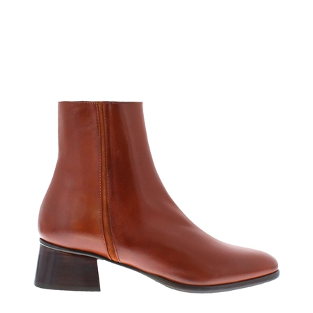 Megan Tan Leather Ankle Boots  - Click to view a larger image