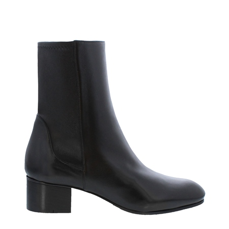 Minetta Black Leather Ankle Boots  - Click to view a larger image