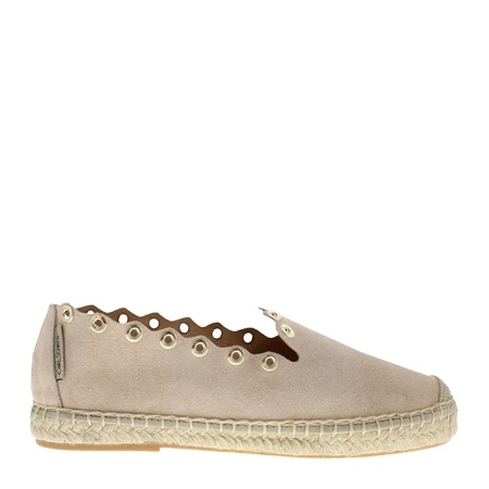 Chloe Beige Espadrille Flats  - Click to view a larger image