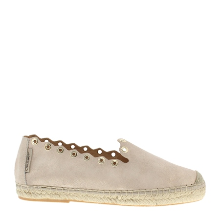 Chloe Beige Metallic Espadrilles  - Click to view a larger image