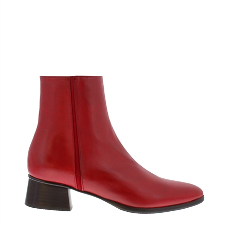 Megan Red Leather Ankle Boots  - Click to view a larger image