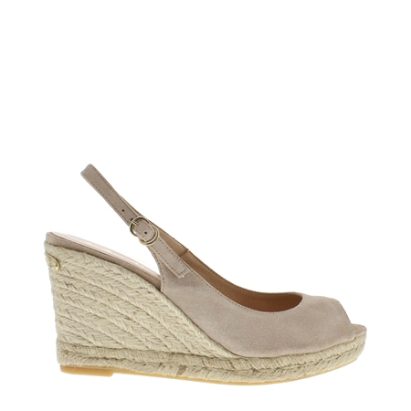 Cadenza Beige Wedge Sandals  - Click to view a larger image