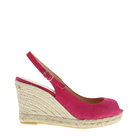 Cadenza Fuchsia Espadrille Wedge Sandals  - Click to view a larger image