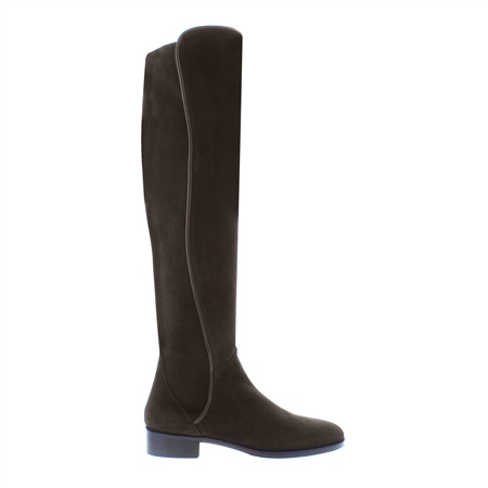 Emma Brown Suede Knee-High Boots  - Click to view a larger image