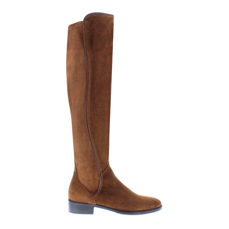 Emma Tan Suede Knee-High Boots