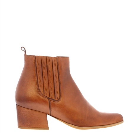 Pollyanna Tan Leather Ankle Boots  - Click to view a larger image