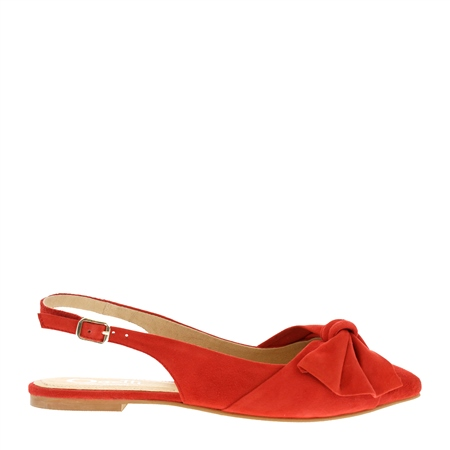 Corra Red Suede Sling-back Loafers  - Click to view a larger image
