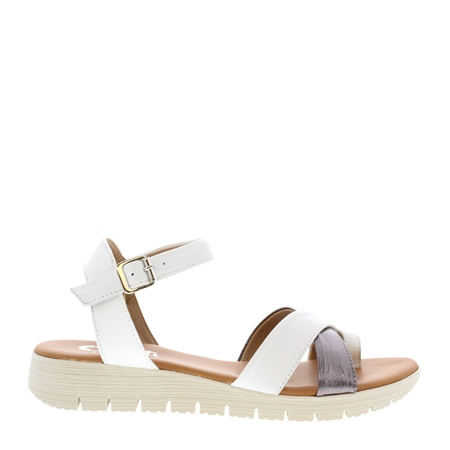 Dorothea White Sandals  - Click to view a larger image