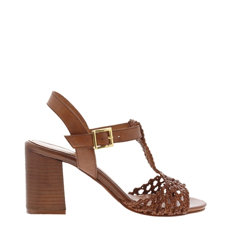 Etienne Tan High Heel Sandals  - Click to view a larger image