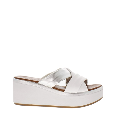 Eden White Wedge Sandal  - Click to view a larger image