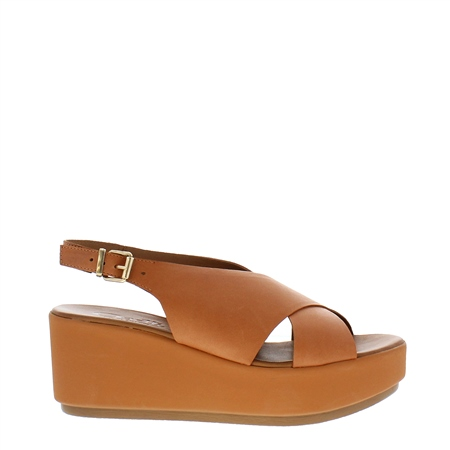 Edmara Tan Wedge Sandals  - Click to view a larger image