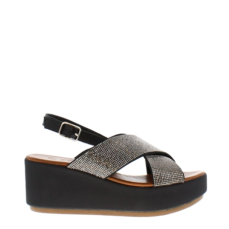 Escalia Black Diamnate Sandals  - Click to view a larger image