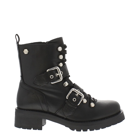 Polli Leather Biker Boots  - Click to view a larger image