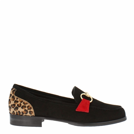 Sabana Black Suede Loafers  - Click to view a larger image