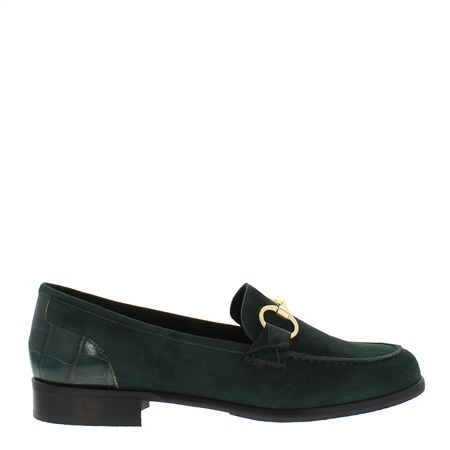 Sabana Green Suede Loafers  - Click to view a larger image