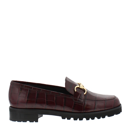Scarlett Burgundy Croc Loafers  - Click to view a larger image