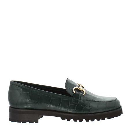 Scarlett Green Croc Loafers  - Click to view a larger image