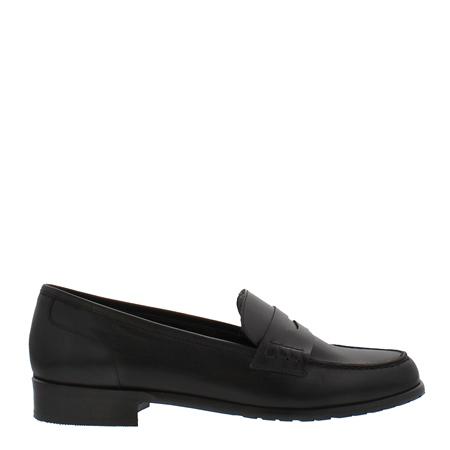 Selia Black Leather Loafers