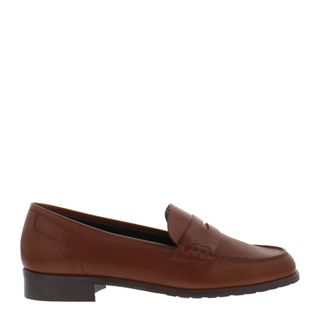 Selia Tan Leather Loafers
