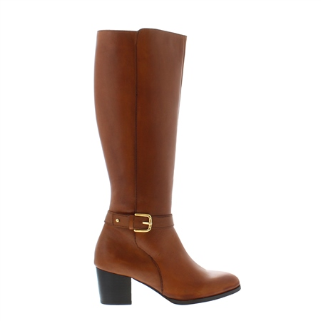 Chantel Tan Leather Boots