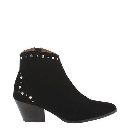 Pama Black Suede Ankle Boots  - Click to view a larger image