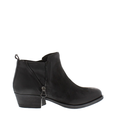 Aralia Black Leather Ankle Boots  - Click to view a larger image