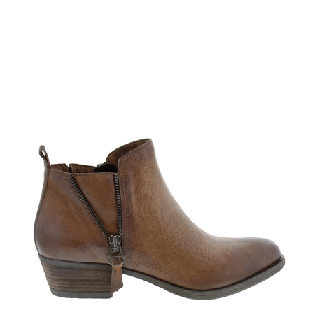 Aralia Tan Leather Ankle Boots  - Click to view a larger image