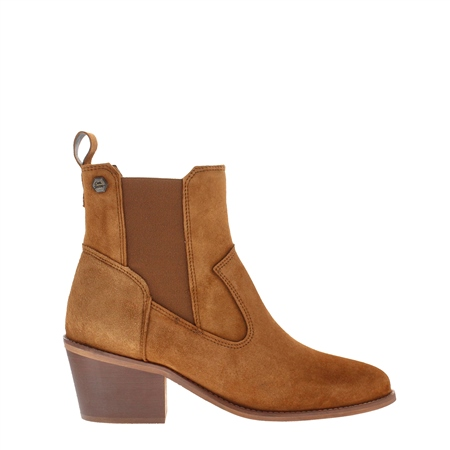 Perlette Tan Suede Ankle Boots