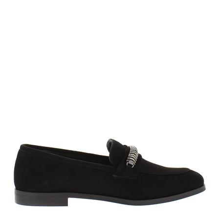 Tallula Black Flat Loafers