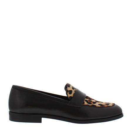 Talon Black Leopard Print Loafers