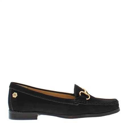 Aubree Black Suede Loafers  - Click to view a larger image