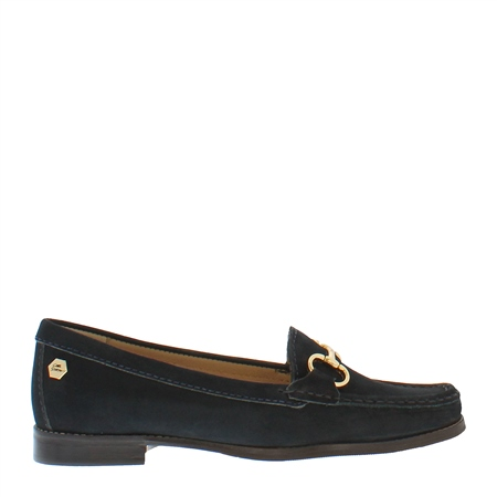Aubree Navy Suede Loafers  - Click to view a larger image