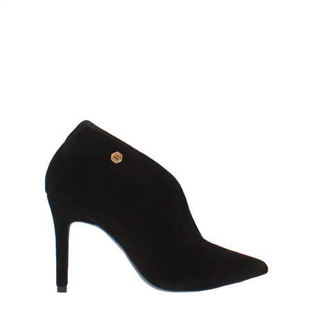 Dante Black High Heel Ankle Boots  - Click to view a larger image