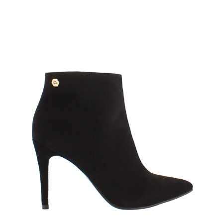Edmonda Black High Heel Ankle Boot  - Click to view a larger image