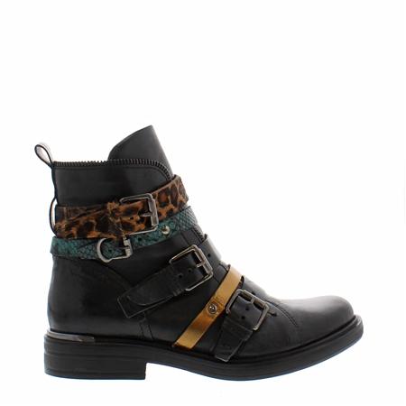 black leopard boots