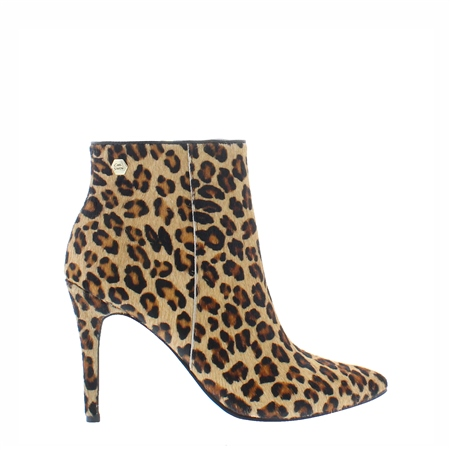 Edmonda Leopard Print High Heel Ankle Boots  - Click to view a larger image