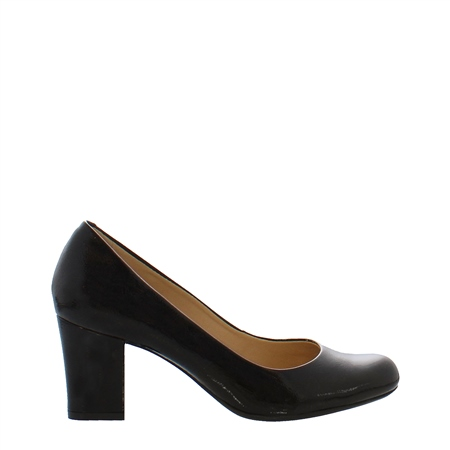 Yvonne Black Patent Court Shoes