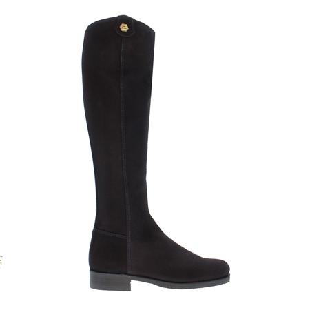 Vanessa Navy Suede Boots