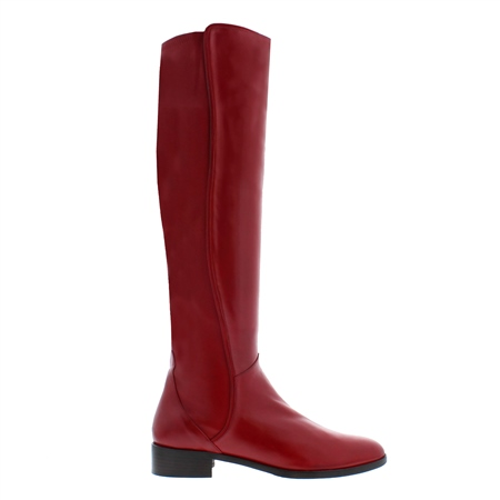 Emma Red Leather Boots  - Click to view a larger image