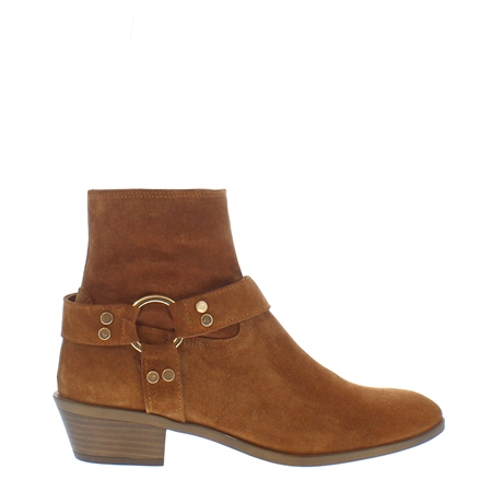 Arlo Tan Suede Western Ankle Boot