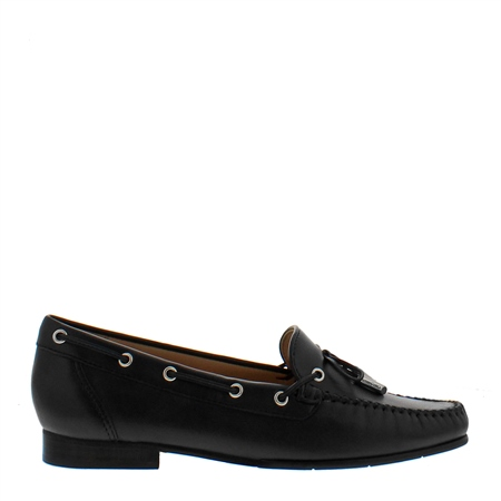 Irma Black Leather Loafers