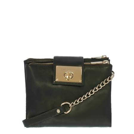 Fabiola Black Leather Crossbody Bag  - Click to view a larger image