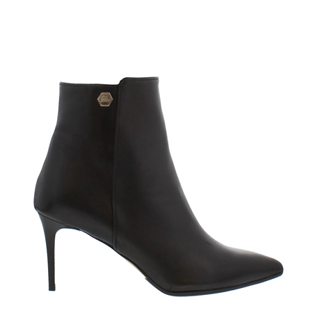 Marilisa Black Leather High Heel Ankle Boots  - Click to view a larger image