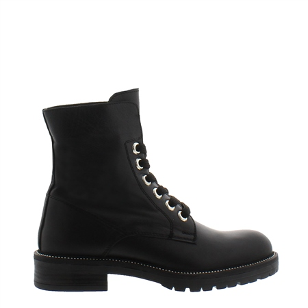 Anamarie Black Biker Boots  - Click to view a larger image
