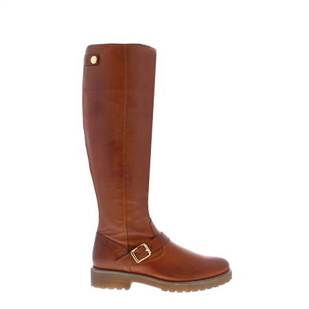 Allisa Tan Leather Boots