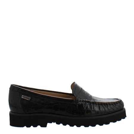 Arlette Black Croc Patent Loafer  - Click to view a larger image