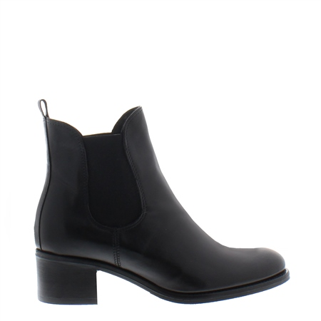 Jamila Black Leather Ankle Boot  - Click to view a larger image